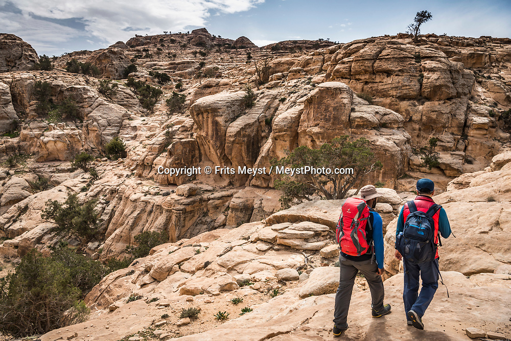 Dana, Petra, Wadi Rum, Jordan, April 2019. The crown jewel of the Jordan trail is the famed Dana to Petra Trek. It truly is a great hike with varying landscapes each day and finishes at the UNESCO World Heritage Site of Petra. The Jordan Trail is a walking trail crossing and connecting the length of the country of Jordan from Um Qais in the north to Aqaba and the Red Sea in the south. Offering 40 days of trekking across more than 600 kilometers of trail, it traverses the diverse landscapes and vistas of the country. The Kingdom of Jordan is hosts one of the most accessible desert wildernesses of the Middle East, with a rich Bedouin culture. Photo by Frits Meyst / Meystphoto.com