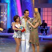 NLD/Hilversum/20070310 - 9e Live uitzending SBS Sterrendansen op het IJs 2007 de Uitslag, Geert Hoes en schaatspartner Sherri Kennedy, Nance Coolen