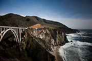 Big Sur, April 4 2012 - The Bixby Creek Bridge, in the area where Jack Kerouac came to rest in a small house in the forest in 1961.