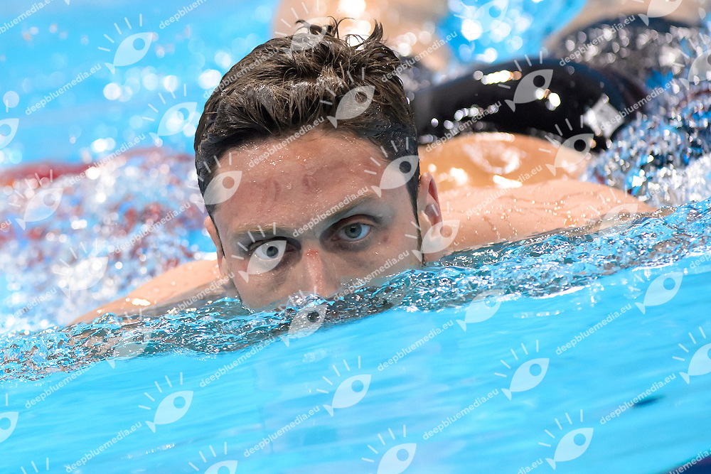 Luca DOTTO ITA <br /> 100m Freestyle Men semi-final<br /> London, Queen Elizabeth II Olympic Park Pool <br /> LEN 2016 European Aquatics Elite Championships <br /> Swimming<br /> Day 11 19-05-2016<br /> Photo Andrea Staccioli/Deepbluemedia/Insidefoto