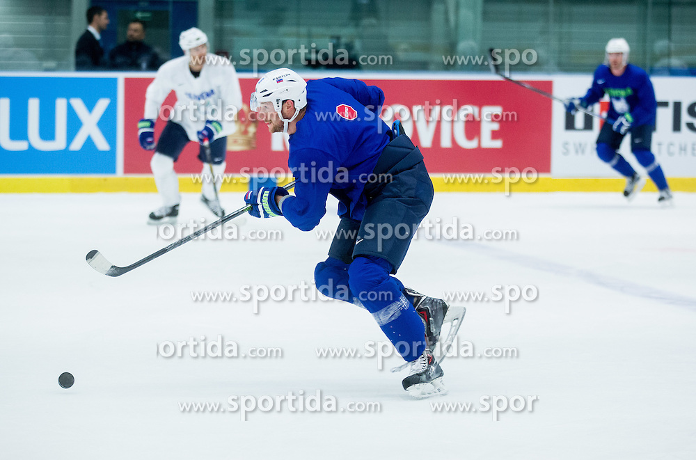 Jan Urbas during practice session of Slovenian National Ice Hockey Team 1 day prior to the 2015 IIHF World Championship in Czech Republic, on April 30, 2015 in Practice arena Ostrava, Czech Republic. Photo by Vid Ponikvar / Sportida