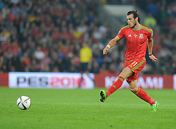 Gareth Bale of Wales (Real Madrid) - Photo mandatory by-line: Alex James/JMP - Mobile: 07966 386802 - 12/06/2015 - SPORT - Football - Cardiff - Cardiff City Stadium - Wales v Belgium - Euro 2016 qualifier
