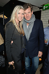 AMANDA WAKELEY and HUGH MORRISON at a party to celebrate the publication of Honestly Healthy Cleanse by Natasha Corrett held at Tredwell's Restaurant, 4a Upper St.Martin's Lane, London on 14th January 2015.