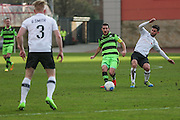 Forest Green Rovers Liam Noble(15) plays a pass during the Vanarama National League match between Gateshead and Forest Green Rovers at Gateshead International Stadium, Gateshead, United Kingdom on 18 February 2017. Photo by Shane Healey.
