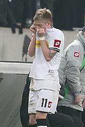 19.11.2011, BorussiaPark, Mönchengladbach, GER, 1.FBL, Borussia Mönchengladbach vs SV Werder Bremen, im BildMarco Reuss (Mönchengladbach #11) zieht sich das Trikot über den Kopf // during the 1.FBL, Borussia Mönchengladbach vs Werder Bremen on 2011/11/19, BorussiaPark, Mönchengladbach, Germany. EXPA Pictures © 2011, PhotoCredit: EXPA/ nph/ Mueller..***** ATTENTION - OUT OF GER, CRO *****