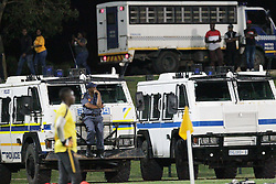 24042018 (Durban) High police presence during the game of Kaizer Chiefs looking to bounce back to winning ways when taking on Golden Arrows in an Absa Premiership match at the Princess Magogo Stadium on Tuesday night (24.02.2018)<br /> Picture: Motshwari Mofokeng/ANA