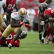 San Francisco 49ers running back Frank Gore (21) during an NFL football game between the San Francisco 49ers  and the Tampa Bay Buccaneers on Sunday, December 15, 2013 at Raymond James Stadium in Tampa, Florida.. (Photo/Alex Menendez)