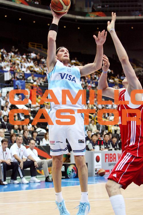 DESCRIZIONE : Saitama Giappone Japan Men World Championship 2006 Campionati Mondiali Argentina-Turkey <br /> GIOCATORE : Hermann <br /> SQUADRA : Argentina <br /> EVENTO : Saitama Giappone Japan Men World Championship 2006 Campionato Mondiale Argentina-Turkey <br /> GARA : Argentina Turkey Argentina Turchia <br /> DATA : 29/08/2006 <br /> CATEGORIA : Tiro <br /> SPORT : Pallacanestro <br /> AUTORE : Agenzia Ciamillo-Castoria/E.Castoria <br /> Galleria : Japan World Championship 2006<br /> Fotonotizia : Saitama Giappone Japan Men World Championship 2006 Campionati Mondiali Argentina-Turkey <br /> Predefinita :