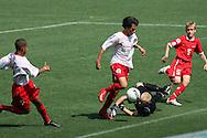 12.07.2008. Finnair Stadium, Helsinki..Helsinki Cup 2008.C-14 loppuottelu, Dallas Texans - Pequeninos do Jockey.©Juha Tamminen
