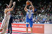 DESCRIZIONE : Varese Lega A 2014-2015 Openjob Metis Varese Banco di Sardegna Sassari<br /> GIOCATORE : Matteo Formenti<br /> CATEGORIA : tiro three points<br /> SQUADRA : Banco di Sardegna Sassari<br /> EVENTO : Campionato Lega A 2014-2015<br /> GARA : Openjob Metis Varese Banco di Sardegna Sassari<br /> DATA : 26/12/2014<br /> SPORT : Pallacanestro<br /> AUTORE : Agenzia Ciamillo-Castoria/Max.Ceretti<br /> GALLERIA : Lega Basket A 2014-2015<br /> FOTONOTIZIA : Varese Lega A 2014-2015 Openjob Metis Varese Banco di Sardegna Sassari<br /> PREDEFINITA :