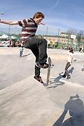 Adam Ham, Frontside Alleyoop Kickflip, Cantelowes Park, London 2006
