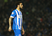 Brighton defender Connor Goldson during the Sky Bet Championship match between Brighton and Hove Albion and Reading at the American Express Community Stadium, Brighton and Hove, England on 15 March 2016. Photo by Bennett Dean.