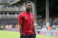 Alexander Tettey of Norwich before the Sky Bet Championship match at Craven Cottage, London<br /> Picture by Paul Chesterton/Focus Images Ltd +44 7904 640267<br /> 05/08/2017