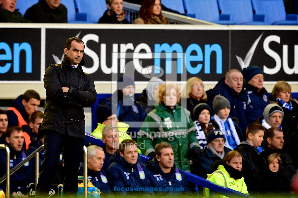 Picture by Ian Wadkins/Focus Images Ltd +44 7877 568959<br /> 01/02/2014<br /> Everton manager Roberto Mart&iacute;nez during the Barclays Premier League match at Goodison Park, Liverpool.