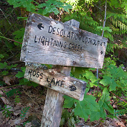Trail Signs, North Cascades National Park, Washington, US