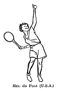 Sorry, No Croquet ; Wimbledon tennis<br /> Mrs du Pont ( USA )