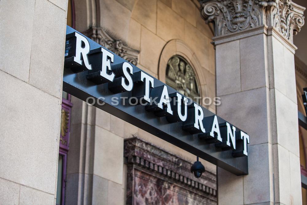 Restaurant Sign on Colorado Boulevard Pasadena
