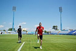 OSIJEK, CROATIA - Friday, June 7, 2019: Wales' xxxx during a training session at Stadion Gradski vrt ahead of the UEFA Euro 2020 Qualifying Group E match against Croatia. (Pic by David Rawcliffe/Propaganda)