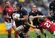 All Blacks' Victor Vito heads for the tryline during the All Blacks v Canada pool A match of the 2011 IRB Rugby World Cup at Wellington Regional Stadium, New Zealand on Sunday, 2 October 2011. Photo: Dave Lintott / photosport.co.nz
