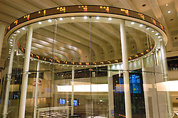 Interior of Tokyo Stock Exchange building