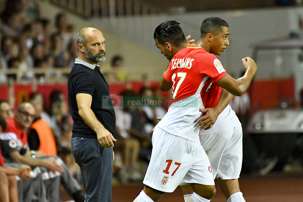 August 4, 2017 - Monaco, France - Radamel Falcao (AS Monaco) - Youri Tielemans (AS Monaco) - Pascal Dupraz  (Credit Image: © Panoramic via ZUMA Press)