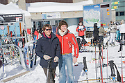 MARIO SCARPELLA; ALESSANDRO CARMINARTI MOLINA, Children and Adult ski race in aid of the Knights of Malta,  Furtschellas. St. Moritz, Switzerland. 23 January 2009 *** Local Caption *** -DO NOT ARCHIVE-© Copyright Photograph by Dafydd Jones. 248 Clapham Rd. London SW9 0PZ. Tel 0207 820 0771. www.dafjones.com.<br /> MARIO SCARPELLA; ALESSANDRO CARMINARTI MOLINA, Children and Adult ski race in aid of the Knights of Malta,  Furtschellas. St. Moritz, Switzerland. 23 January 2009