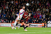 James McArthur (18) of Crystal Palace has a headed shot at goal during the Premier League match between Bournemouth and Crystal Palace at the Vitality Stadium, Bournemouth, England on 1 October 2018.