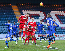 Crawley's Anthony Wordsworth clears the ball  - Photo mandatory by-line: Matt McNulty/JMP - Mobile: 07966 386802 - 17.01.2015 - SPORT - Football - Rochdale - Spotland Stadium - Rochdale v Crawley Town - Sky Bet League One