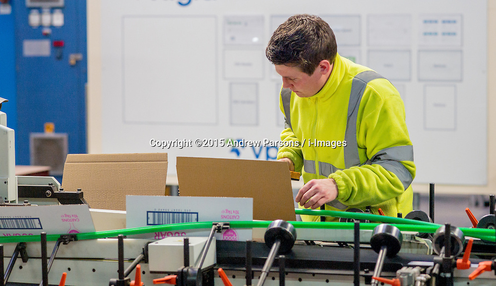 ©Licensed to i-Images Picture Agency. 19/03/2015. Desborough, Kettering, Conservative Campaign. Rigid Packaging. Picture by Andrew Parsons / i-Images