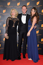Katy Cavanagh, Antony Cotton and Brook Vincent attend the RTS Programme Awards. London, United Kingdom. Tuesday, 18th March 2014. Picture by Chris Joseph / i-Images
