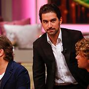 NLD/Hilversum/20121028 - Uitzending Life4You met Carlo Boszhard en Irene Moors, acteur Sinan Eroglu