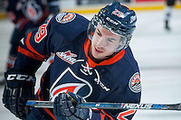 KELOWNA, CANADA - DECEMBER 28: Matthew Campese #29 of Kamloops Blazers warms up at the Kelowna Rockets on December 28, 2015 at Prospera Place in Kelowna, British Columbia, Canada.  (Photo by Marissa Baecker/Shoot the Breeze)  *** Local Caption *** Matthew Campese;