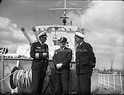 German Frigate on Courtesy Visit to Dublin Port.<br />