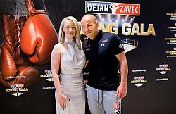 Beba Scap and Dejan Zavec during Dejan Zavec Boxing Gala event in Laško, on April 21, 2017 in Thermana Lasko, Slovenia. Photo by Vid Ponikvar / Sportida
