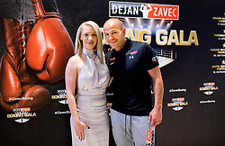 Beba Scap and Dejan Zavec during Dejan Zavec Boxing Gala event in Laško, on April 21, 2017 in Thermana Lasko, Slovenia. Photo by Vid Ponikvar / Sportida