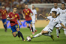 October 6, 2017 - Alicante, Spain - Thiago Alcantara (Bayern Munchen) and Frederic Veseli during the qualifying match for the World Cup Russia 2018 between Spain and Albaniaat the Jose Rico Perez stadium in Alicante, Spain on October 6, 2017. (Credit Image: © Jose Breton/NurPhoto via ZUMA Press)