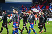 Players coming onto the pitch during the Premier League match between Crystal Palace and Arsenal at Selhurst Park, London, England on 28 December 2017. Photo by Toyin Oshodi.