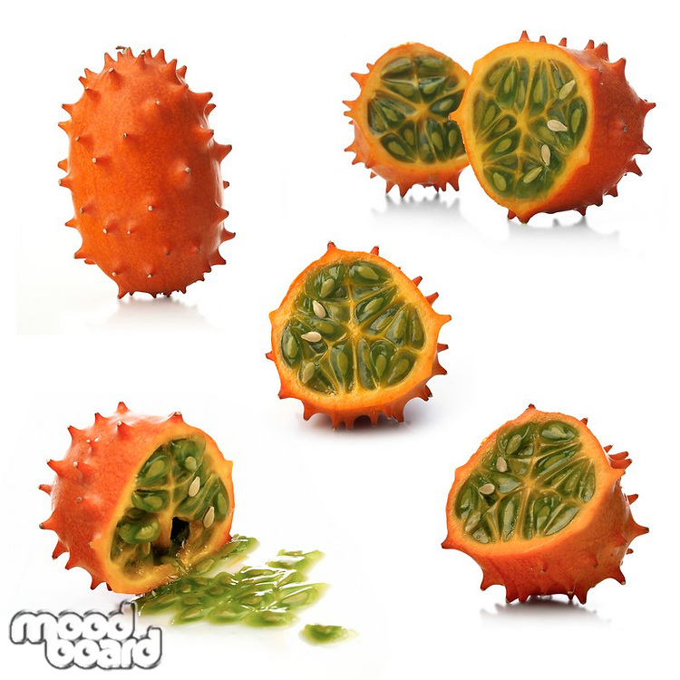 Kiwano on white background - studio shot