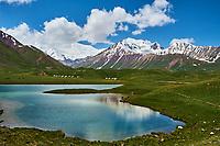 Kirghizistan, province de Osh, vallée d'Alaï, lac Tolpur au camp de base du Pic Lénine // Kyrgyzstan, Osh province, Alaï valley, Tolpur lake, Lenine pic base camp