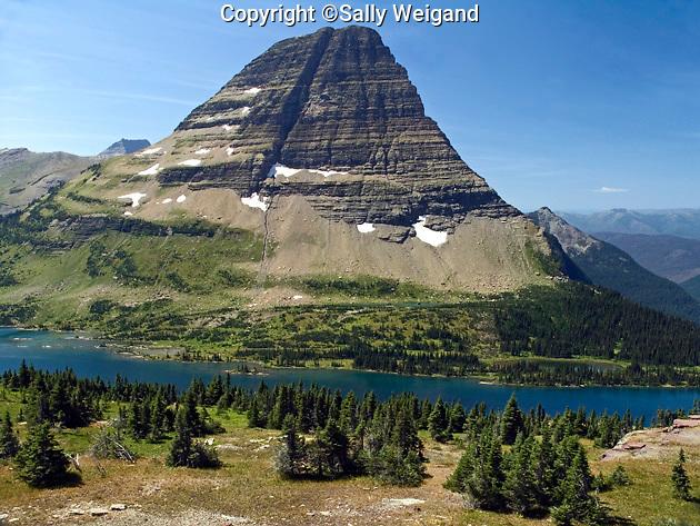 mountain & Hidden Lake; Logan Pass; Rocky Mountains; Glacier National Park; West Glacier MT; Montana