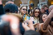 Gigi and Bella Hadid at Alberta Ferretti FW2018