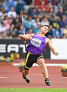 Chao-Tsun Cheng (TPE) places third in the javelin at 273-3 (83.28m) during the IAAF Continental Cup 2018 at Mestky Stadion in Ostrava, Czech Republic, Sunday, Sept. 9, 2018. (Jiro Mochizuki/Image of Sport)