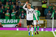 Germany forward Julian Brandt (10) appeals during the UEFA European 2020 Qualifier match between Northern Ireland and Germany at National Football Stadium, Windsor Park, Northern Ireland on 9 September 2019.