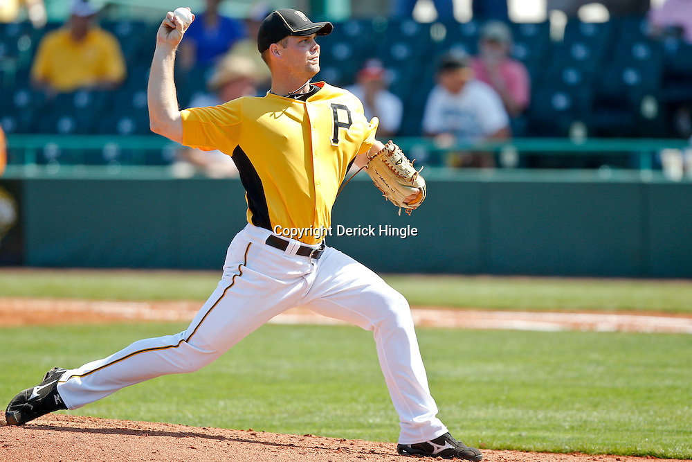 February 25, 2011; Bradenton, FL, USA; Pittsburgh Pirates starting pitcher Kyle McPherson (67) during a spring training exhibition game against the State College of Florida Manatees at McKechnie Field. The Pirates defeated the Manatees 21-1. Mandatory Credit: Derick E. Hingle