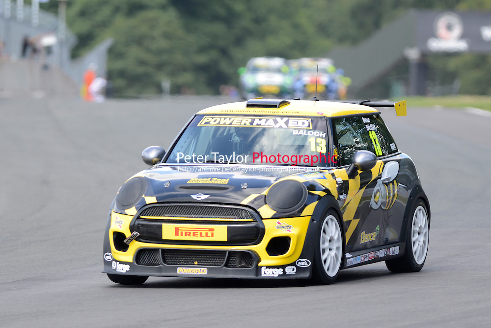 #13 Bence Balogh Mini F56 during Power Maxed Mini Challenge - F56/JCW - Race 1 as part of the Mini Festival  at Oulton Park, Little Budworth, Cheshire, United Kingdom. August 08 2015. World Copyright Peter Taylor. Copy of publication required for printed pictures.  Every used picture is fee-liable. http://archive.petertaylor-photographic.co.uk