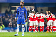 Chelsea forward Tammy Abraham (9) ahead of the Premier League match between Chelsea and Arsenal at Stamford Bridge, London, England on 21 January 2020.