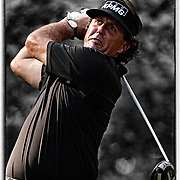 24 August 2012:  Phil Mickelson (USA) tee's off at the 18th hole during the second round of The Barclays Championship for The FedEx Cup played at Bethpage Black in Farmingdale, NewYork.