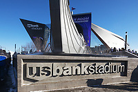 Minneapolis, Minnesota - Dec 30: US Bank Stadium on Vikings game day with a temperature of -17 degrees farenheit in Minneapolis, Minnesota on Dec 30th, 2017. The new stadium will host  Super Bowl LII on February 4, 2018. (Photo Jim Kruger/Kruger-images.com)
