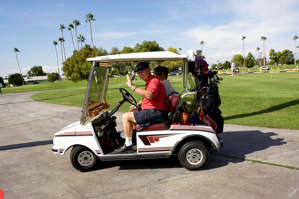 UNITED STATES-SUN CITY- Golf course in Sun City, a retirement community in Arizona. PHOTO: GERRIT DE HEUS .VERENIGDE STATEN-SUN CITY-  Sun City. PHOTO GERRIT DE HEUS
