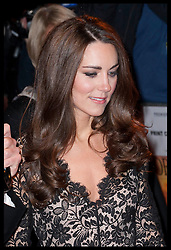 Duchess of Cambridge arriving at the premiere of War Horse in London, Sunday 8th January 2012.  Photo by: Stephen Lock / i-Images